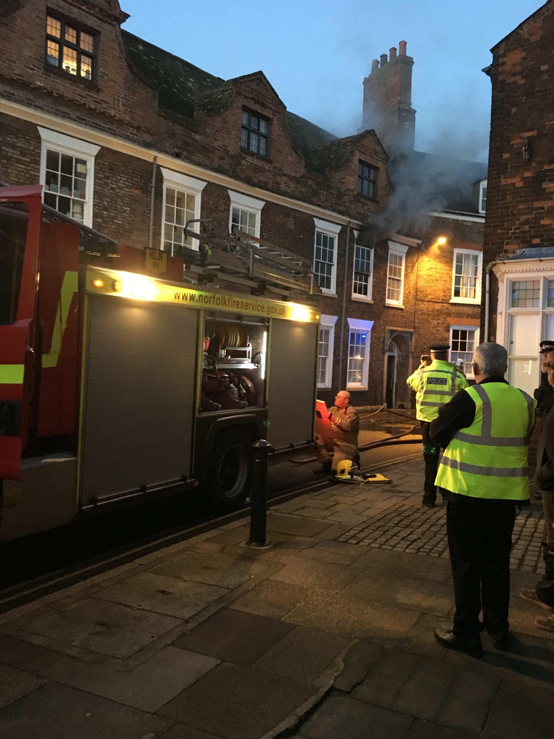 Fire at Thoresby College