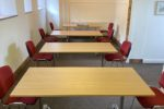 The Lower Hall at Thoresby College, King's Lynn - social distancing set-up